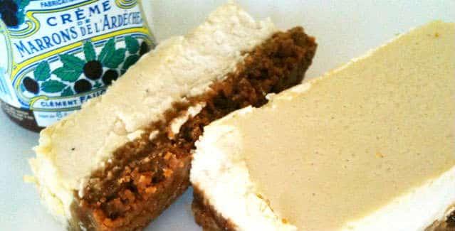 Cheesecake speculoos creme de marron - Feuille de choux