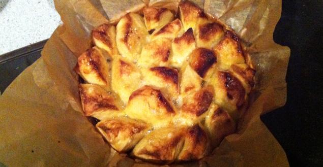 Tarte pomme façon tatin au biscuit broyé du poitou - Feuille de choux