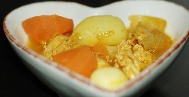 Curry de poulet vietnamien - Feuille de choux