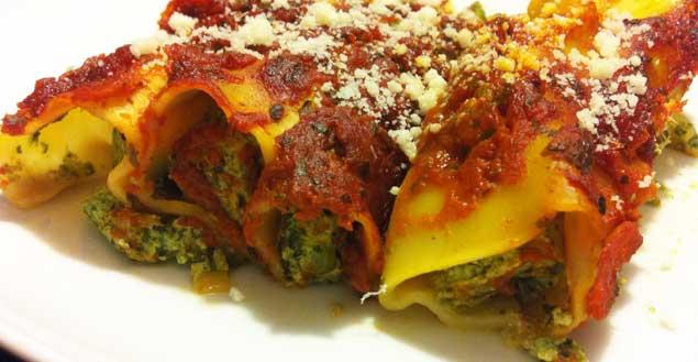 Recette de cannelloni ricotta pinard recette italienne feuille de choux - Cuisine italienne cannelloni ...
