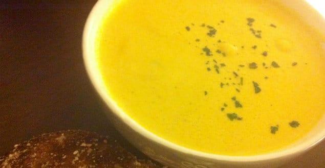 soupe lentilles corail - Feuille de choux