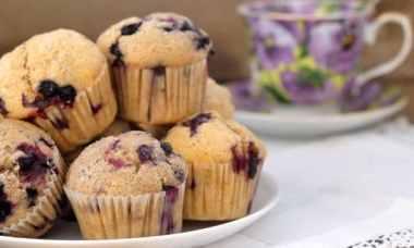 Muffins myrtilles Feuille de choux