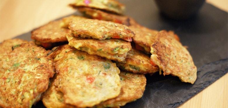 galettes de légumes végétariennes - feuille de choux