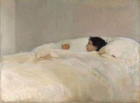 Joaquín Sorolla, Mutter, 1895–1900, Öl auf Leinwand, 125 x 169 cm, Madrid, Museo Sorolla, Inv.-Nr. 324