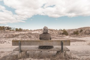 Man alone on a bench