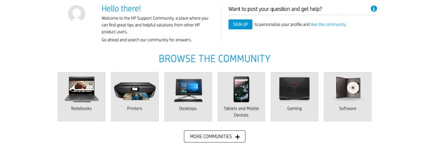 HP Community