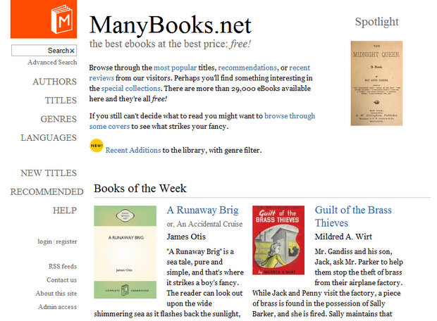 ManyBooks.net - Ad-free eBooks for your iPad, smartphone, or eBook reader
