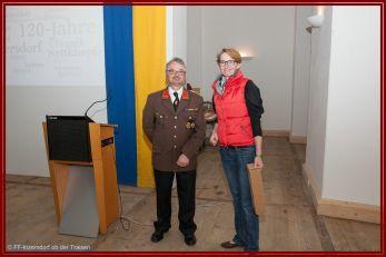 Kommandant BI Reinhard Zehndorfer u. Schloss-Direktorin Frau Andrea Pscheid-Hintersteininger
