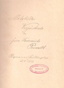 Mitgliederverzeichnis 1913