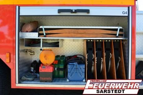 Im Geräteraum 4 sind unterschiedlichste Materialien für Hilfeleistung und Brandbekämpfung verbaut.