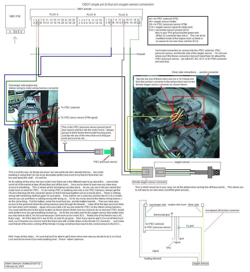medium resolution of honda civic obd1 wiring diagram 2001 honda civic o2 sensor wiring diagramrh svlc