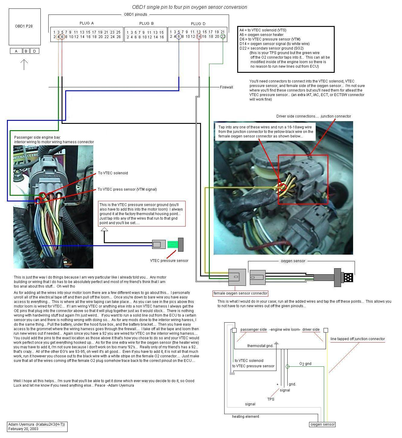 hight resolution of honda civic obd1 wiring diagram 2001 honda civic o2 sensor wiring diagramrh svlc