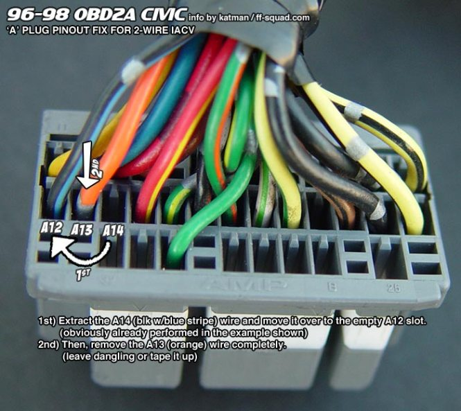 98 honda civic ecu wiring diagram wiring diagram ffs tech obd2a ecu pin out schematics