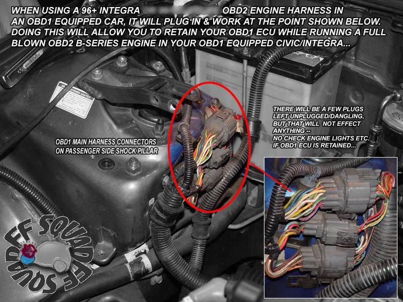 92 honda civic wiring harness