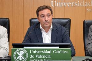 Salva Gomar en la 3rd International Conference of Football de la Universidad Católica de Valencia