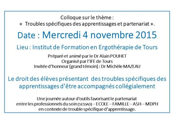 Colloque TOURS 4 11