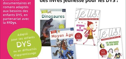 À découvrir, 4 livres jeunesse pour les DYS !