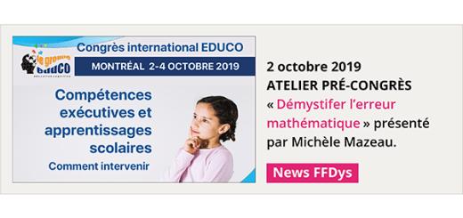 2/4 Octobre - Montréal - Compétences exécutives et apprentissages scolaires: comment intervenir