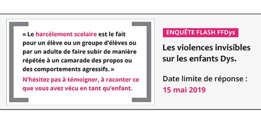 Enquête Flash : Les violences invisibles sur les enfants Dys