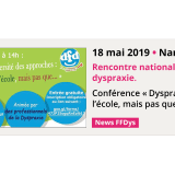 18 mai 2019 - Rencontre nationale sur la dyspraxie - Nantes