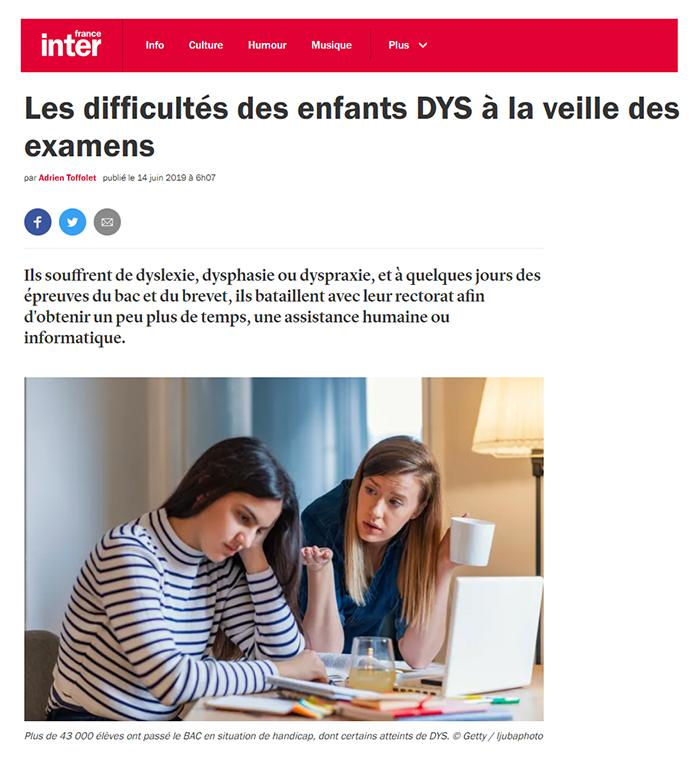 difficultés des enfants DYS à la veille des examens