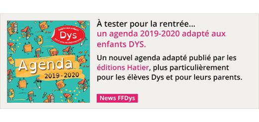 À tester pour la rentrée, un agenda 2019-2020 adapté aux enfants DYS
