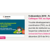 Colloque TDC ou Dyspraxie - Paris - 9 décembre 2019