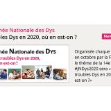 """""""Les troubles Dys en 2020, où en est-on?"""" Thème de la 14e Journée Nationale des Dys!"""