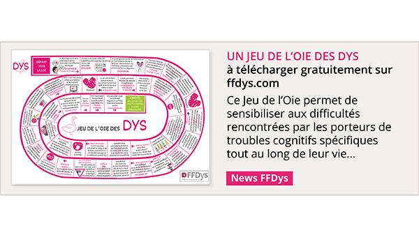 Un Jeu de l'Oie des DYS à télécharger gratuitement sur sur ffdys.com!