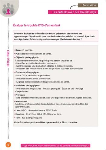Formation FFDys Pro - Évaluer le trouble DYS d'un enfant