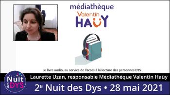 Laurette Uzan, responsable Médiathèque Valentin Haüy