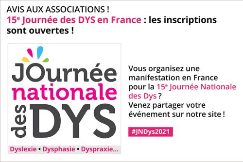 Associations de la FFDys, partagez vos événements pour la 15e Journée Nationale des DYSsur ffdys.com!