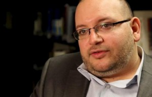 File photo of Washington Post reporter Jason Rezaian speaking in the newspaper's offices in Washington