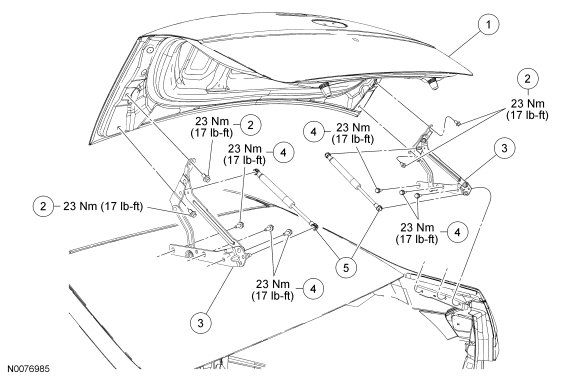 Ford Focus Service Manual :: Luggage Compartment Lid
