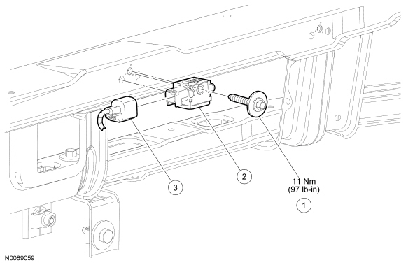Ford Focus Service Manual :: Front Impact Severity Sensor