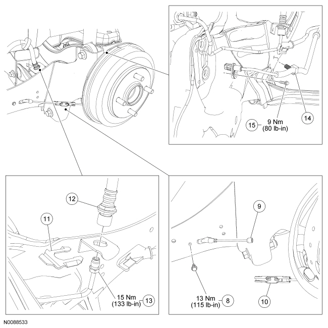 Ford Focus Service Manual :: Rear Suspension Wheel Knuckle