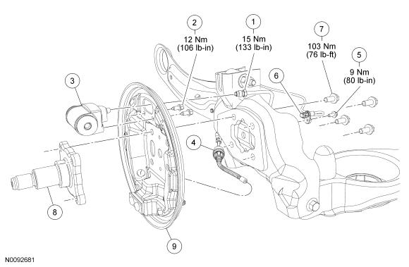 Ford Focus Service Manual :: Brake Backing Plate :: Drum