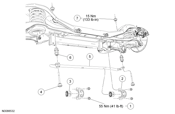 Ford Focus Service Manual :: Rear Suspension Stabilizer