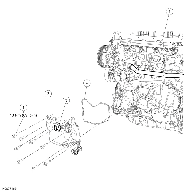 Ford Focus Service Manual :: Crankcase Vent Oil Separator