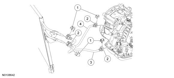 Ford Focus Service Manual :: Transmission Fluid Cooler