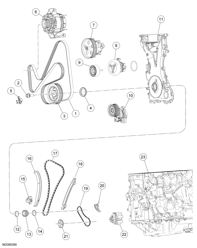 Ford Focus Service Manual :: Front Engine Block :: Engine