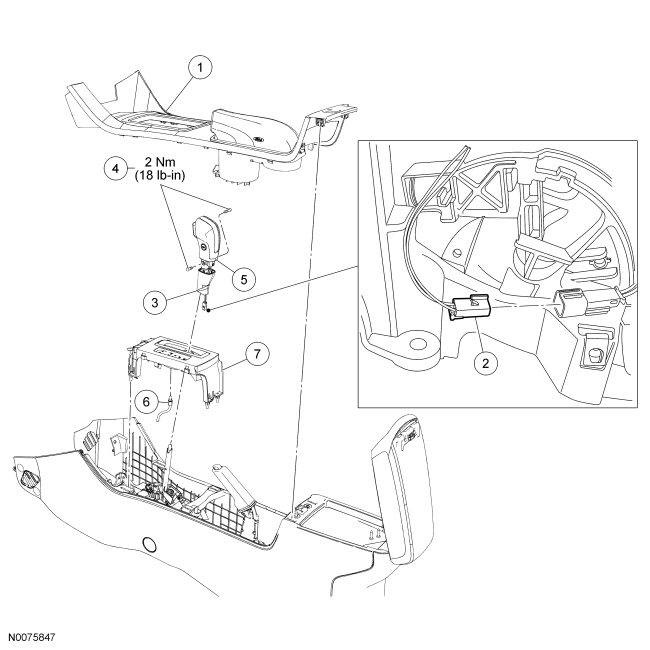 Ford Focus Service Manual :: Selector Lever Bezel