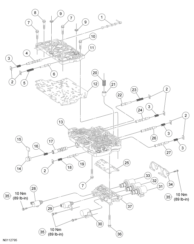 Ford Focus Service Manual :: Main Control Valve Body