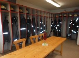 Umkleideraum im Feuerwehrhaus Kürnberg