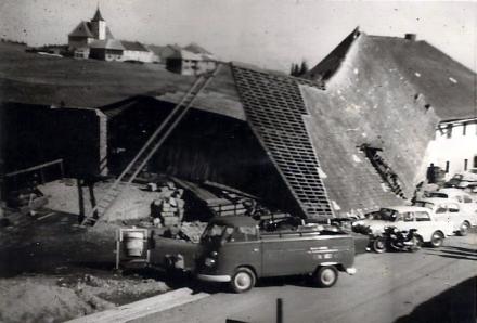"""Sturmeinsatz Gasthaus Somer """"Unterwirt"""" 1967"""