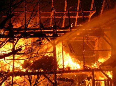 Großbrand Familie Mühlberger 2004