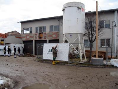 Bau des neuen Feuerwehrhauses