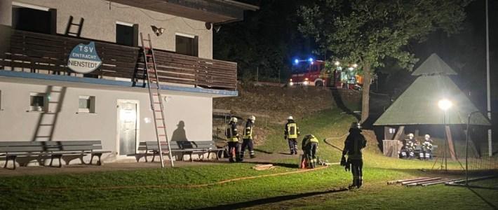 Bilder: Einsatzübung am Nienstedter Sportheim