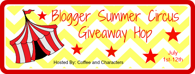 Blogger Summer Blog Hop for YA Fiction red and white tent on white and yellow zig zag ground