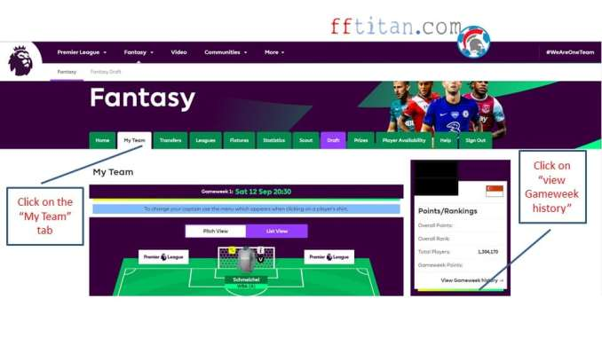 how to find my fpl team id
